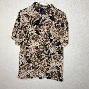 Caribbean Joe Mens Button Down Short Sleeve Shirt